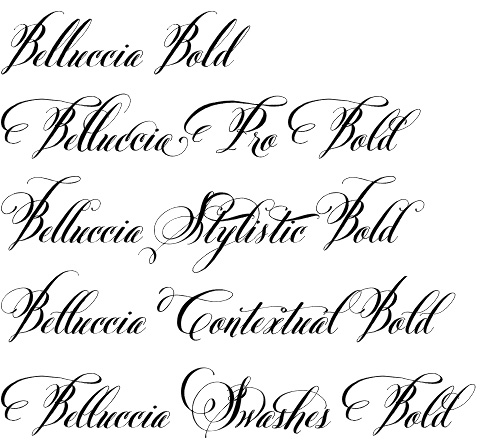 Belluccia Bold Font The Art Of Wedding Invitations