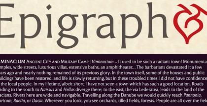 Epigraph font