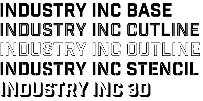 Industry Inc font – an invaluable typography toolbox