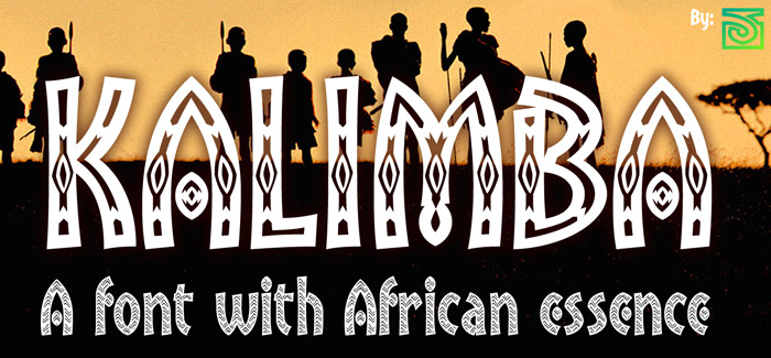 Download Fonts For Word >> Kalimba font – a medley font with Africa deep in its heart