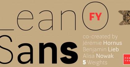 LeanO Sans FY font