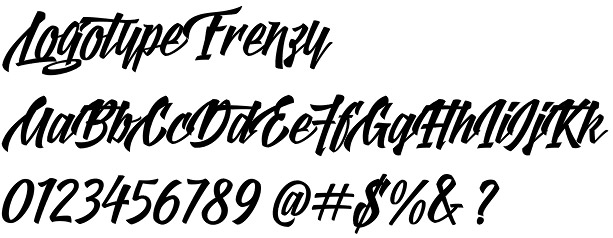 Logotype Frenzy font