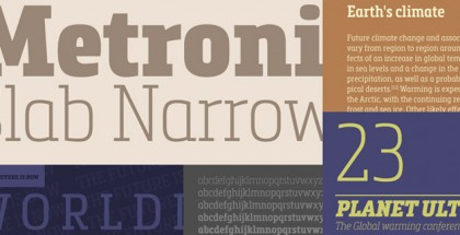 Metronic Slab Narrow font