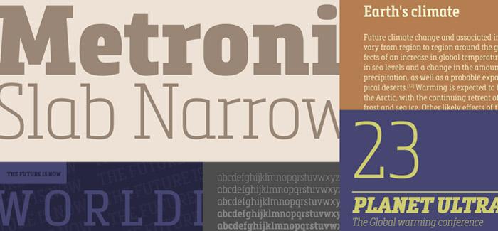 Metronic Slab Narrow font