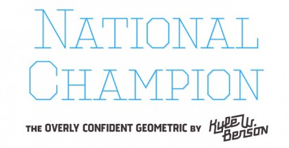 National Champion font
