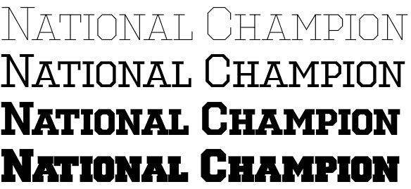 National Champion font