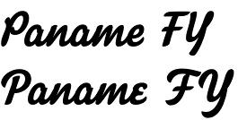 Paname FY font