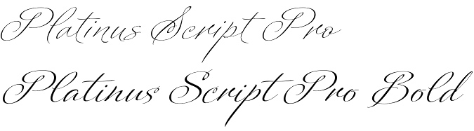 Platinus Script Pro font