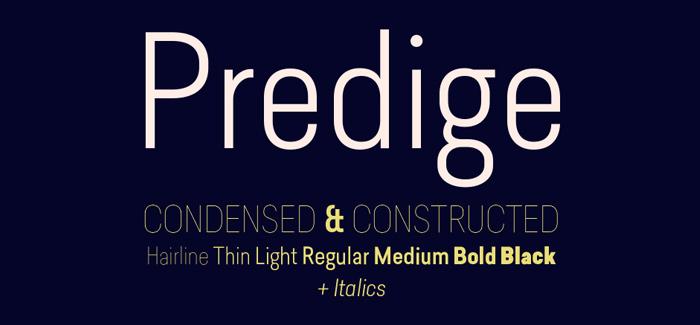 Predige font