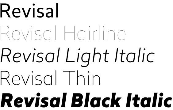 Revisal font