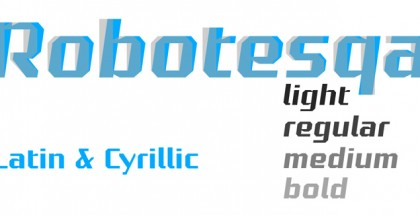 Robotesqa 4F font