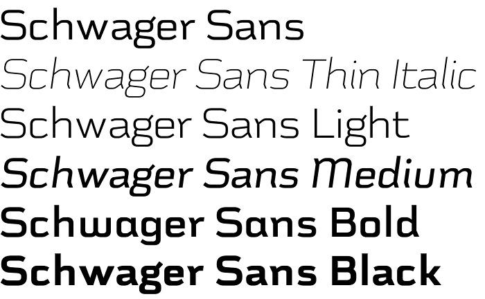 Schwager Sans font