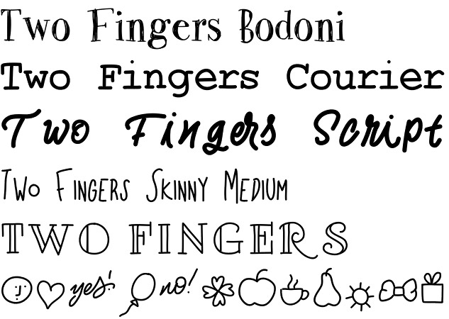 Two Fingers font