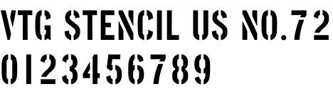 VTG Stencil US No. 72