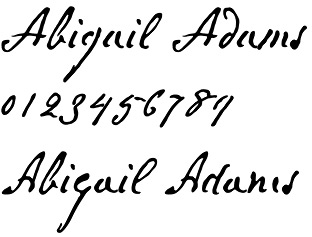 Abigail Adams font