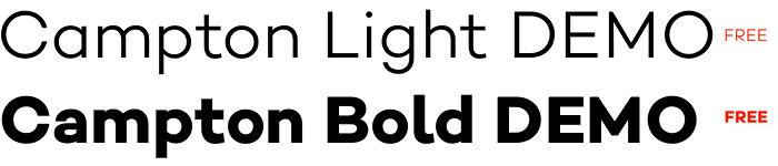 Campton Demo free fonts
