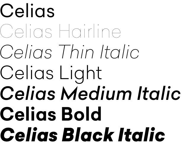 Celias font