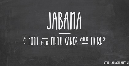 Jabana font by Nils Types