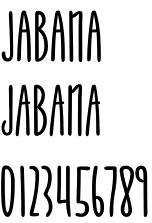 Jabana font