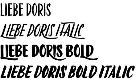 LiebeDoris font