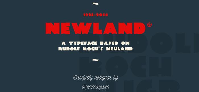Newland font
