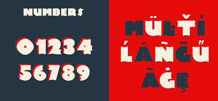 Newland font - numbers and multilanguage