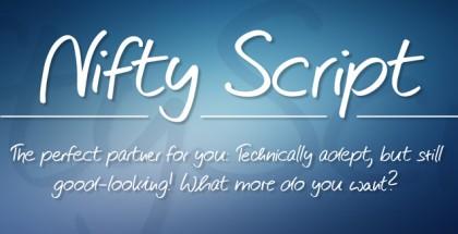 Nifty Script font