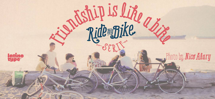 Ride My Bike Serif font