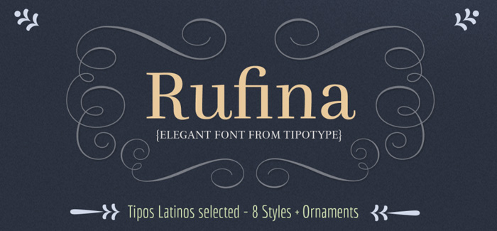 Rufina font
