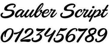 Sauber Script font