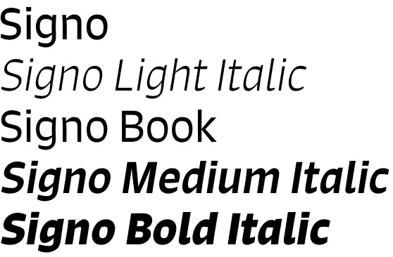 Signo font by Rui Abreu – an elegant and eccentric SansSigno font