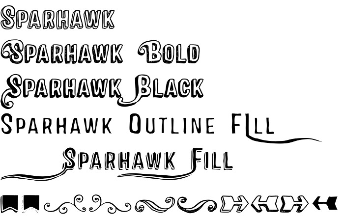 Sparhawk font
