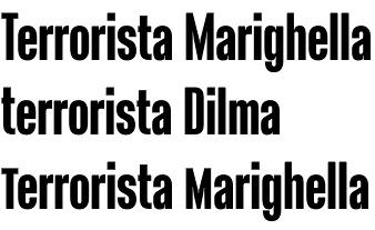 Terrorista font