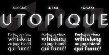Utopique font
