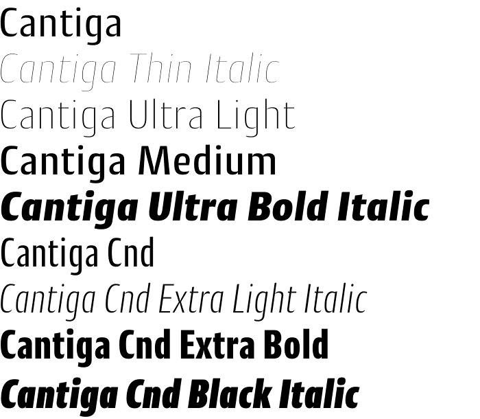 Cantiga font