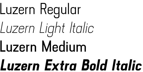 Luzern font
