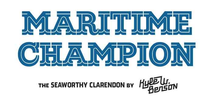 Maritime Champion font