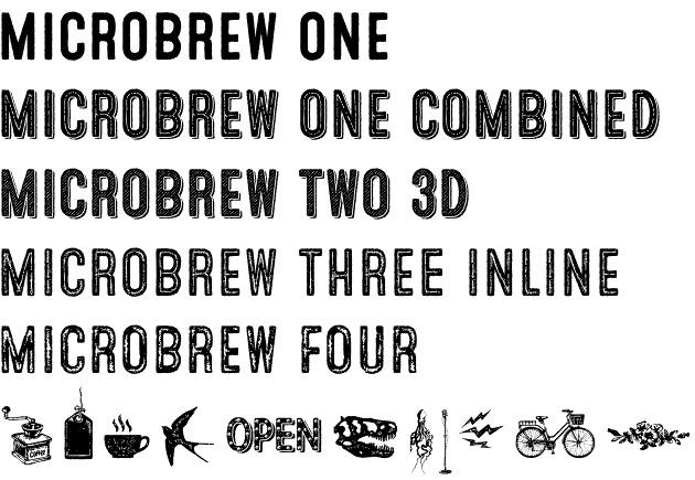Microbrew font