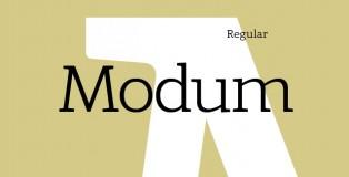Modum free font