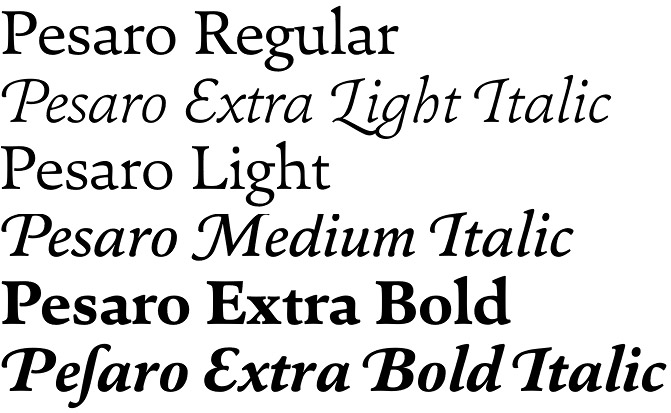 Pesaro font