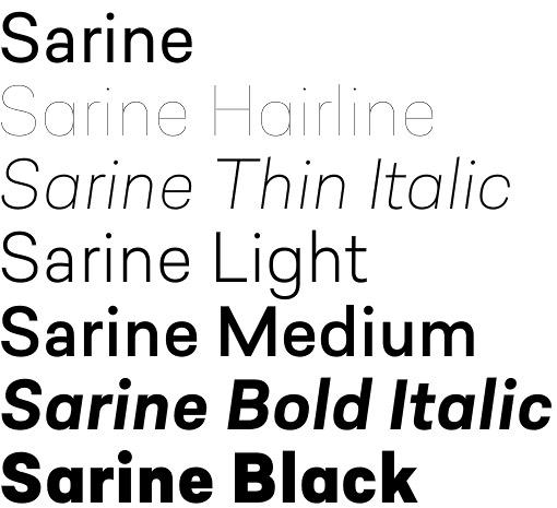 Sarine font