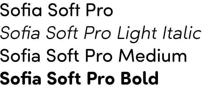 Sofia Soft Pro font