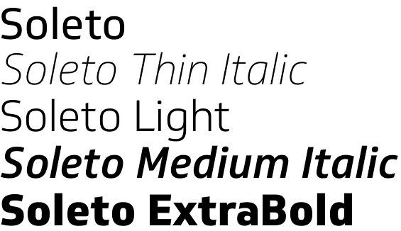 Soleto font