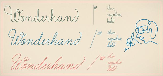 Wonderhand font