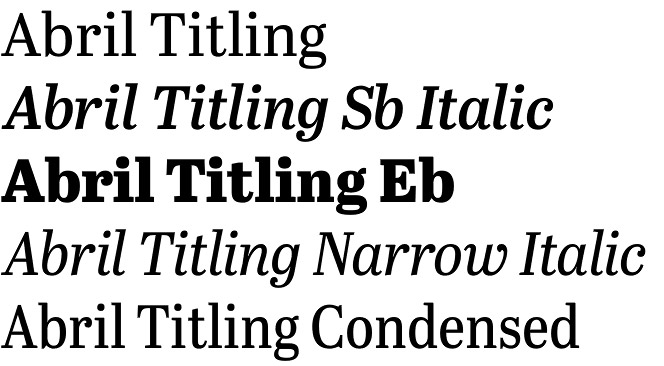 Abril Titling font