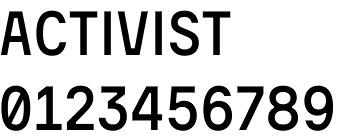 Activist font