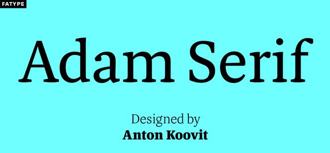 Adam Serif font