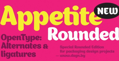 Appetite Rounded font
