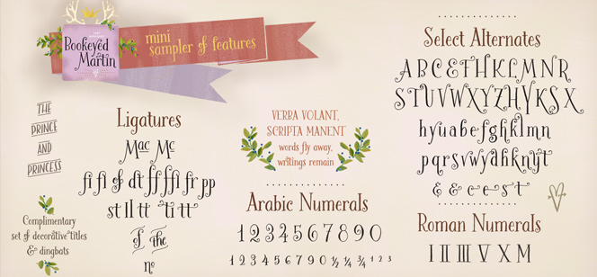 Bookeyed Martin font