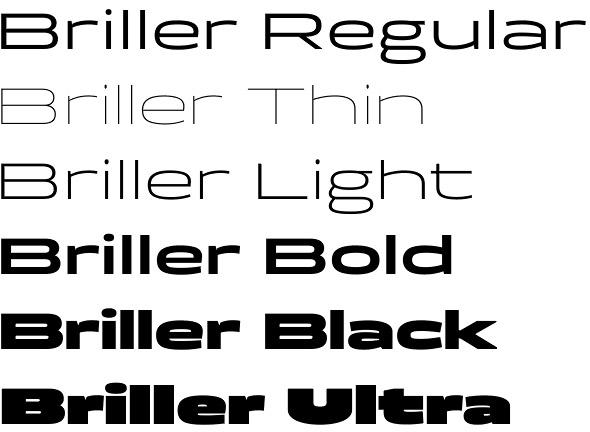 Briller font